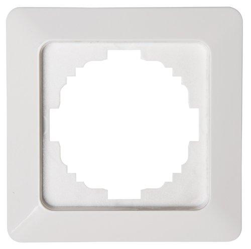 Kopp Abdeckrahmen 1-fach Milano weiß