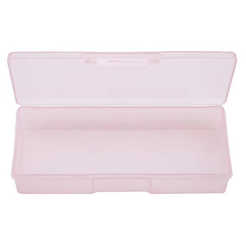 L_shop Boîte à Outils pour Les Ongles Pointes pour Les Ongles Videz Le Support de Vernis à Ongles Transparent Fournisseurs Outils Range-Tout, boîte en Plastique, Rose