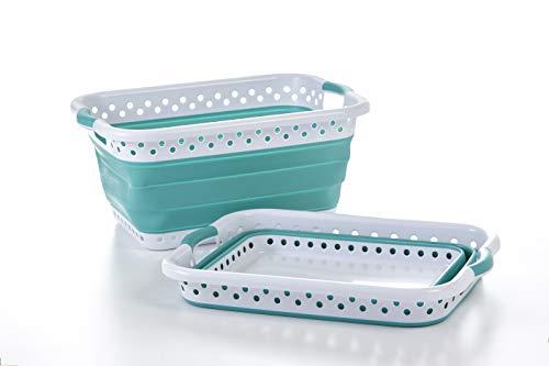 Pop & Load - Cesto plegable para colapsar y almacenar (ultrafina), color verde
