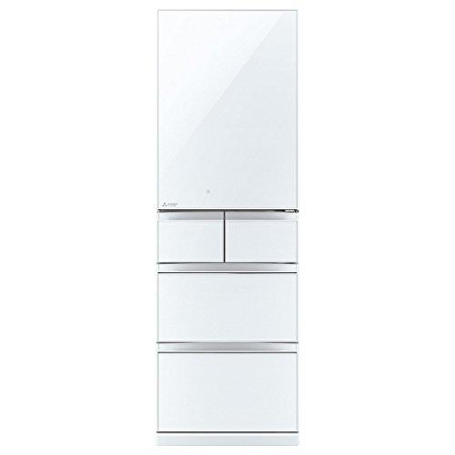 三菱 455L 5ドア冷蔵庫(クリスタルピュアホワイト)【右開き】MITSUBISHI 置けるスマート大容量 Bシリーズ...