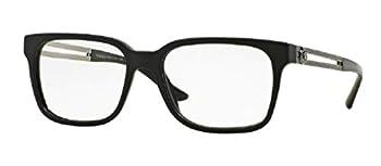 Versace VE3218 5122 53M Black Sand Square Eyeglasses For Men+FREE Complimentary Eyewear Care Kit