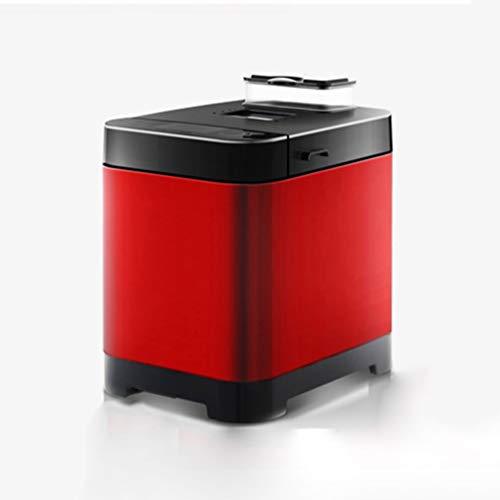FUDIV Automatische Brotmaschine 2,2 Lb Digitale Brotmaschine Programmierbare Glutenfreie Brotmaschine LCD-Anzeige, 18 Menüeinstellungen 450 W, Rot
