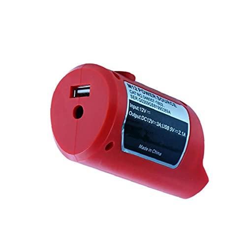 USB Fuente de alimentación M12 USB adaptador de energía del cargador de Li-Ion batería universal del dispositivo USB al adaptador de carga Rojo