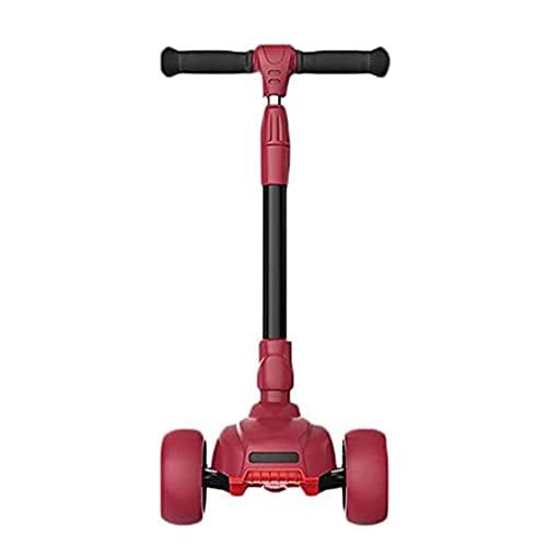 Tastak Stunt Scooters Scooter, monopatín de dirección inteligente con ruedas de luz LED, tira de goma resistente con inclinación ajustable, tabla plegable y plegable para sentarse o con scoote