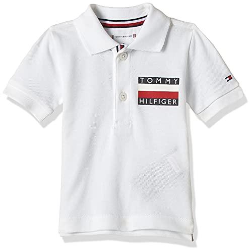 Tommy Hilfiger Baby Boy Tommy Polo S/s Maglietta, Bianco (White Yaf), Unica (Taglia Produttore: 74) Unisex-Bimbi