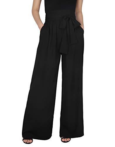 HDE Womens Pants for Work, Travel Pants Women Black Trousers Work Pants