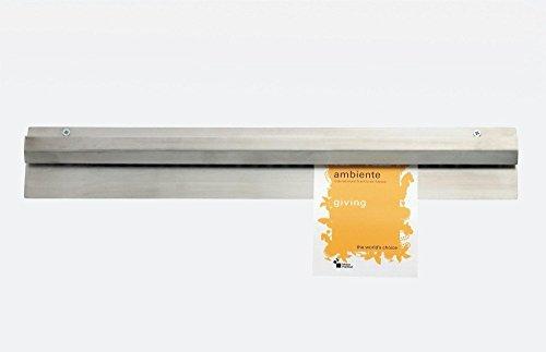 Bonschiene aus Edelstahl in mehreren Längen/Länge: 30, 46, 60, 75, 90 oder 120 cm (Bonschiene 6 - Länge: 120 cm)