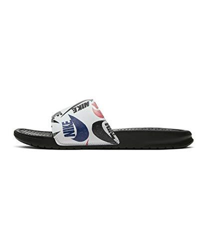 Nike Herren Benassi JDI Print Leichtathletik-Schuh, Black Black White Multi Color, 38.5 EU