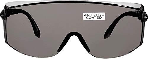 voltX 'OVERSPECS' Sobremontura para Gafas de Seguridad Industrial (Lentes Ahumado/Gris) con certificación CE EN166F, ajuste de sien individual, antivaho, resistentes a los arañazos, con protección UV4