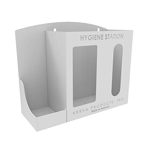 Respiratory Hygiene Sanitation Station by Versa Products | Wall Mounted | 3 Compartments | White