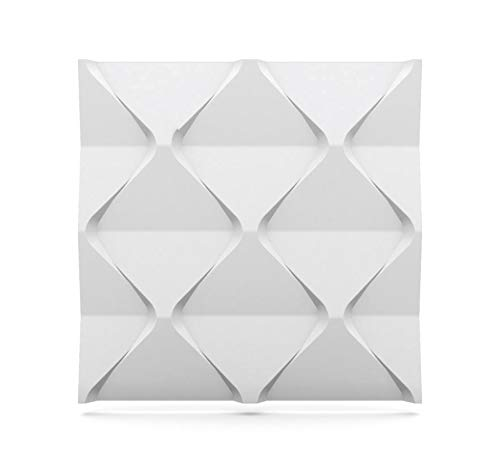 Luxury 3D Wall and Ceiling Panel Harmony 60cm x 60cm Decorative Cladding Tile (12 Tiles (4.32 m²))