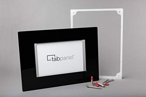 """knXpresso Tablet Wand Halterung für 10.1"""" Tablets, kompatibel mit Samsung Tab A, universell, schwarz, Hochglanz-Acrylglas"""