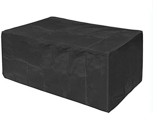 dfff Fundas para Muebles de jardín Funda Protectora para Muebles de jardín Cubo Impermeable a Prueba de Polvo Anti-UV Protección para Muebles 28 tamaños (Color: Negro, Tamaño :)
