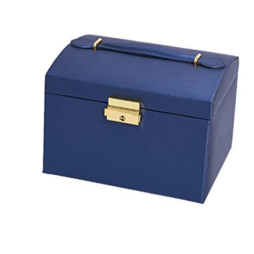 ASDMRQ Joyero, caja de joyería de gran capacidad, caja de joyería tipo cajón de tres capas, pulsera, pendiente, collar, anillo, caja de almacenamiento de joyas