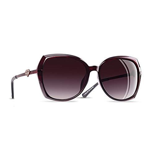 YNJZ Forma de diamante Gafas de sol polarizadas de lujo para mujer Moda para mujer Gafas de sol Gafas graduadas para mujer Gafas, C2Wind Red