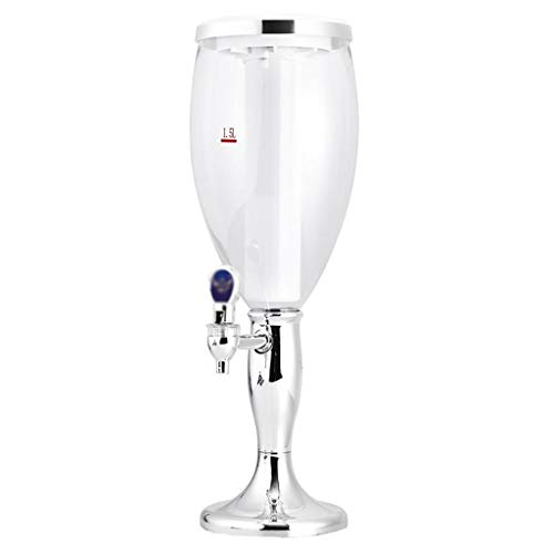 ZSQHD 1.5 L Plástico Tablero de Vino Torre Torre Bebida Dispensador de Jugo con LED Coloridas Luces Brillantes (Size : Style 1)