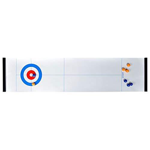 Cicony - Juego de palés, Juego de Bolos o Curling sobre Mesa para Adultos y niños, Show, Curling