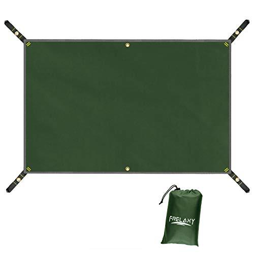 Frelaxy Zeltplane wasserdicht, Hochdichtem Camping Zelt Tarp, Outdoor Plane Zeltunterlage Zeltböden für Picknick, Wandern, Angeln