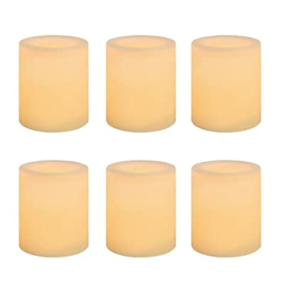 Inglow Battery-Operated 1-3/4-Inch Flameless Wax-Covered LED Votive Candle
