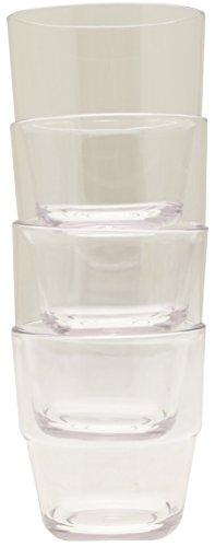Preisvergleich Produktbild Flamefield Acryl-Trinkgläser,  stapelbar,  transparent,  klein,  4 Stück