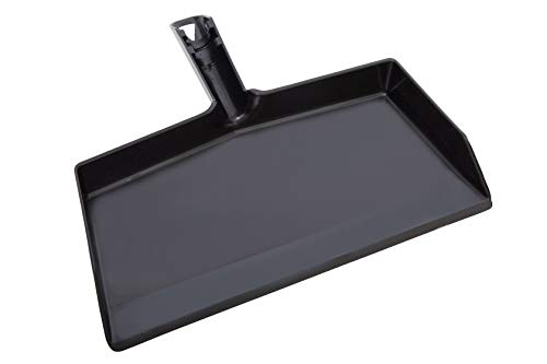 """Stanley Home Products Black Clip-On Dustpan - Durable Plastic Clip-On Dust Pan with 10.5"""" Wide Sweep Opening & Easy Grip Handle - Home Dusting & Cleaning Tool"""