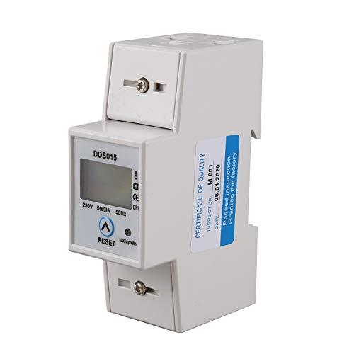 Zarfmiya Vatímetro Monofásico de Riel Din Consumo de Energía Medidor de Energía Electrónica de Vatios Kwh 5-80A 230V Ca 50Hz Con Función de Reinicio