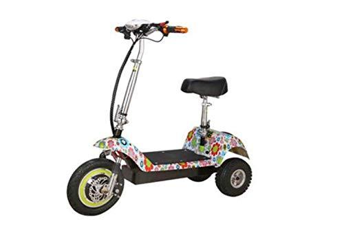 SEESEE.U Mini Coche eléctrico Plegable para Motocicleta, Coche eléctrico para Mini Pedal...