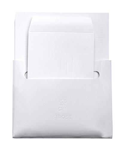 Ghost Paper Stationery Set  Embossed Lined Paper amp Envelopes