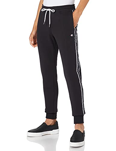 Champion Herren Seasonal American Tape Rib Cuff Pants Jogginghose, Black, S