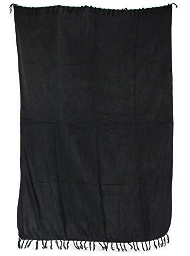 Pareo einfarbig Sarong Uni - Farben für Damen und Herren/Wickelrock Strandtuch Sauna-Tuch Wickelkleid Schal/Farbe: schwarz blau rot orange gelb hellgrün grün lila Weiss violett