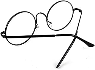 Vintage Round Full Metal Prince sunglasses Retro Clear Lens Nerd Frames Glasses