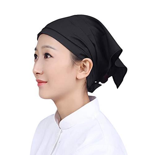 Pinji Chapeau Cuisine Coiffe Chef Homme Femme Turban Cuisinier Bonnet Traiteur Restaurateur Infirmière Patissier Boulanger Noir