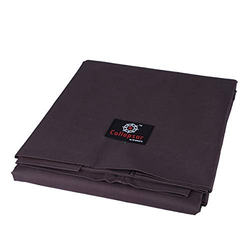 7/8/9FT Heavy Duty 600D Polyester Canvas Billiard Pool Table Cover(7 Colors Available) (Coffee Brown, 9-Foot)