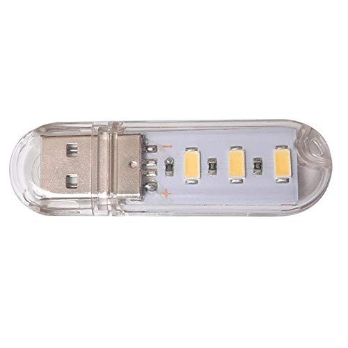 Ba30DEllylelly Mini 3LEDs USB 5V LED Luz de noche Escritorio Libro Lámpara...