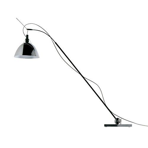 Ingo Maurer Max. Kugler–Lámpara LED de mesa, plata aluminio acero