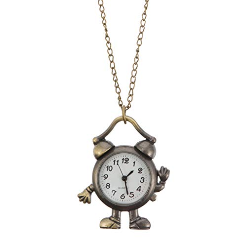 ibasenice Reloj de Bolsillo de Aleación con Cadena Colgante Reloj Mecánico Vintage para Amantes de La Antigüedad Colección Hombres Mujeres Regalos Suéter Ropa Decoración