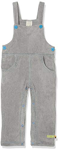 loud + proud Baby-Unisex Latzhose Cord Hose, Grau (Grey Gr), 92