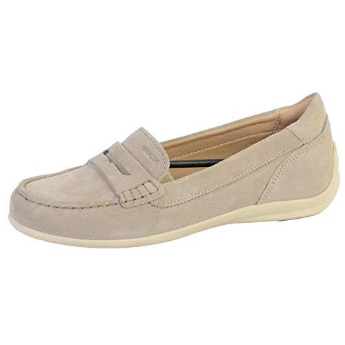 Geox Mujer Mocasines D Yuki, señora Zapatilla Deportiva, Calzado de Medio Zapato,Slip-on,Zapato de Ocio,Slip-in Abierto,LT Taupe,38 EU / 5 UK 🔥