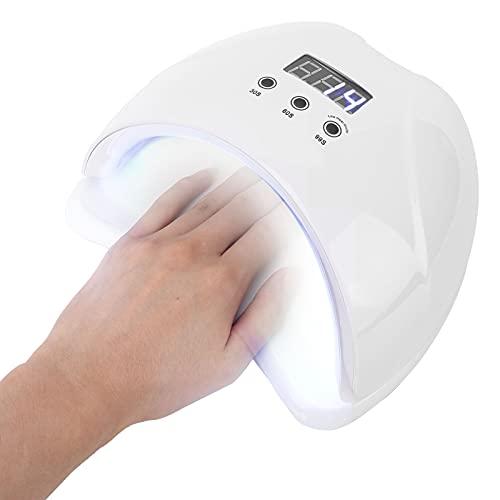 Lámpara de uñas LED UV, luz de uñas de gel para esmalte de uñas, secador UV de 48 W con 3 temporizadores, profesional para accesorios de herramientas de decoración de uñas(blanco)