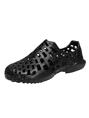 [ネルロッソ] 靴 メンズ シューズ スニーカー スリッポン サンダル メンズ 大きいサイズ オフィス カジュアル 軽量 正規品 25.0cm(40) ブラック8033 cmv24200-40-bl8033