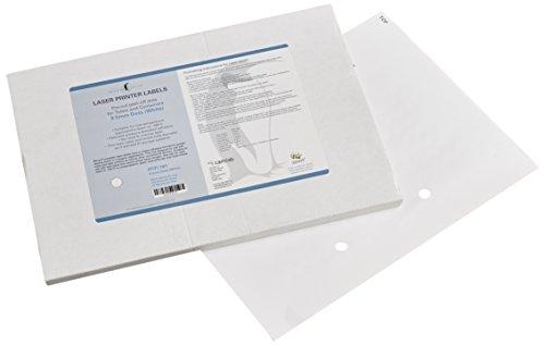 Camlab plastica RTP/181Tubee s pois, 9,5mm, 20fogli di etichette 192, ordinati, colore: bianco di 3840)