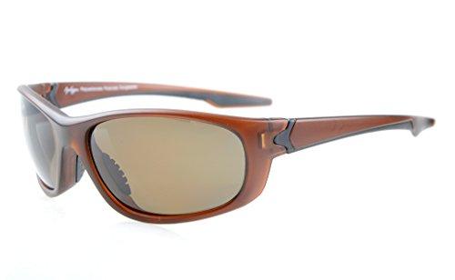Eyekepper Polycarbonat-polarisierte Sport-Sonnenbrille für Männer Frauen Baseball Laufen Angeln Fahren Golf Softball Wandern TR90 Unbreakable Braun Frame Braun Lens