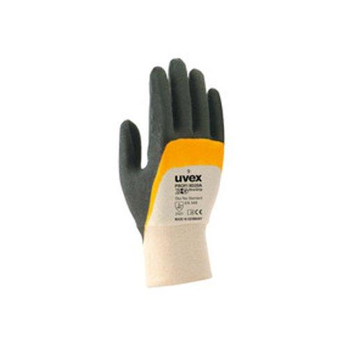 Uvex 605588Profi Ergo xg20a Sicherheit Handschuh, Größe: 8, weiß, orange, schwarz
