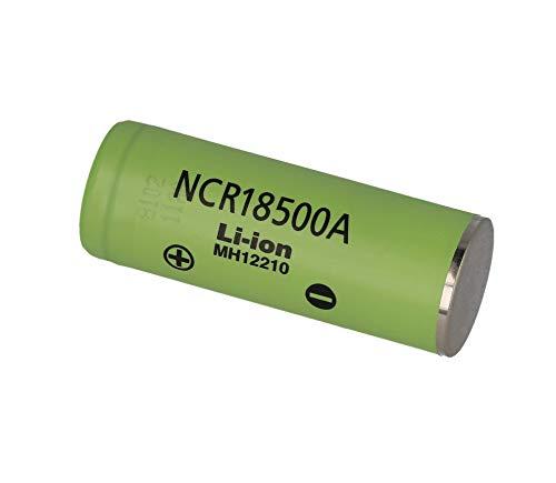 Unbekannt Panasonic NCR18500A 2040mAh - 3,8A Li-Ion-Akku Batterie Pluspol flach
