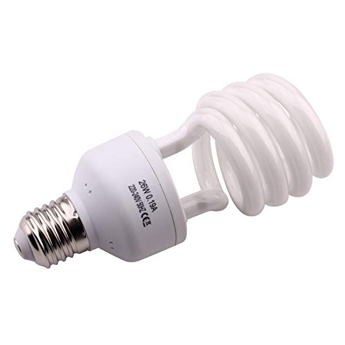 AIICIOO UVB Lampe für Reptil 5.0 26W Terrarium UVB Compact Lampe für Reptil Schildkröte Eidechse Sukkulenten Förderung der D3-Synthese Hilfe Erhöhen Sie die Kalziumabsorption E27 220-240V