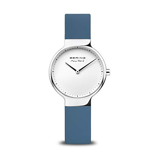 BERING Reloj Analógico Max René Collection para Mujer de Cuarzo con Correa en Silicona y Cristal de Zafiro 15531-700