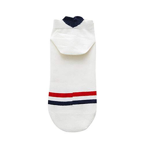 Lazzboy Damen Unsichtbare Sneaker Socken - Baumwolle Kurz Sport Socken Anti-Rutsch Füsslinge für Loafers Bootsschuhe (B)