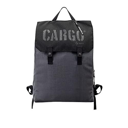 CARGO by OWEE Grande zaino riflettente in Cordura 1100 dtex, borsa per laptop per uomo e donna, bambini, comoda borsa da bicicletta, elegante shopper e Weekender 20 l, grigio., L