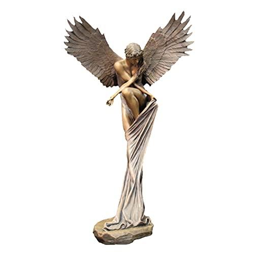 ornithologist Engel Statuen 3D Resin Angel Redemption Statue Der Engel Erlösung Gartenstatue Engel Der ErlöSung Figur ReligiöSe Gartenstatue FüR Garten Home Dekoration