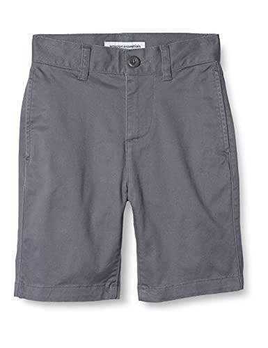 Amazon Essentials Boys' Flat Front Uniform Chino Short,...